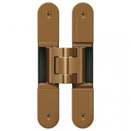 Paumelle tectus p/porte affleurante aspect bronze