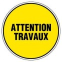 Disque rond d300 attention travaux r4061047
