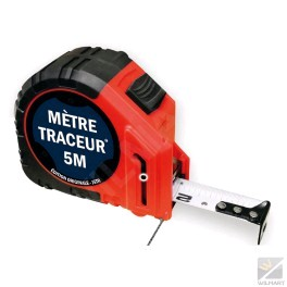 Mesure traceur 5mx25mm + 10 mines graphites