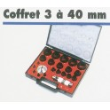 Coffret emporte pieces d3 a 40mm 61252