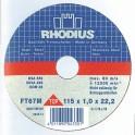 Disque acier/inox 115x1.6x22.2 ref 005.0370